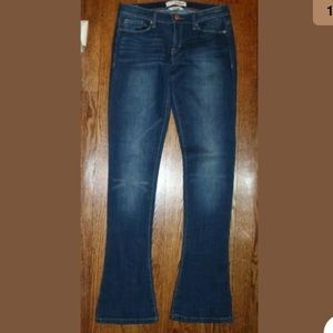 Dittos Skinny Flare Mid Rise Jeans Dark Blue 27